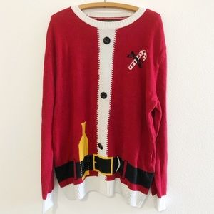 Santa Ugly Christmas Sweater Men's XXL
